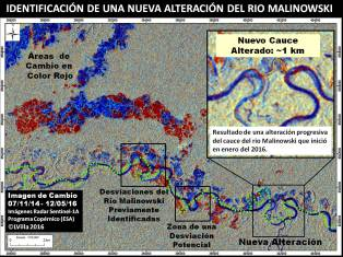 Identificación de una Nueva Desviación del Rio Malinowski
