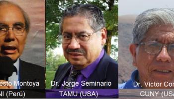 Curso Internacional sobre Investigación y Redacción de Tesis y Artículos y cómo estudiar en USA (Sáb. 6/1/18; 3 pm). M. Montoya (UNI, Perú), J. Seminario (TAMU, USA) y V. Coronel (CUNY, USA)
